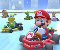 The icon of the Baby Luigi Cup's challenge from the Cooking Tour in Mario Kart Tour.