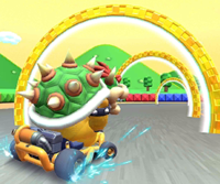 The icon of the Bowser Cup challenge from the 2019 Paris Tour in Mario Kart Tour