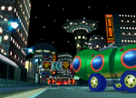 The icon for Mushroom City, from Mario Kart Double Dash!!.