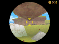 Roughly where a player should aim to perform the glitch