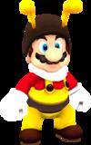 Rendered model of Bee Mario in Super Mario Galaxy.