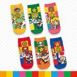 Mario character socks from Super Nintendo World