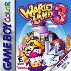 Front box art for Wario Land 3