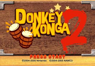 Title screen for Donkey Konga 2