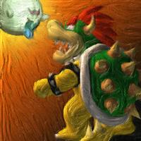 Gold frame artwork of King Boo.