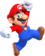 Artwork of Mario jumping from New Super Mario Bros. U Deluxe