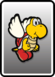 A Koopa Paratroopa card from Paper Mario: Color Splash