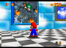 Mario facing the picture of Wet-Dry World