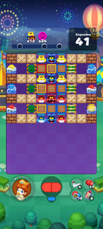 Stage 644 from Dr. Mario World