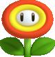 Artwork of a Fire Flower for New Super Mario Bros. 2