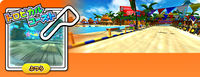Preview of the Mario Kart Arcade GP DX course Tropical Coast