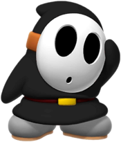Black Shy Guy from Mario Kart Tour