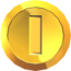 Rendered model of a Coin in Super Mario Galaxy.