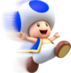 Artwork of Toad running, from Super Mario 3D World.