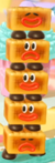 A stack of Mels from Yoshi's Crafted World