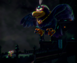 The illustration of Wingo's Watchtower in Captain Toad: Treasure Tracker.