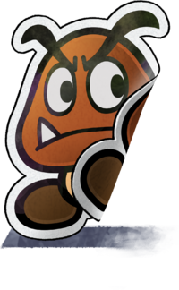 Crinkle Goomba artwork from Mario & Luigi: Paper Jam