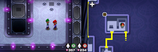 Location of the seventeenth, eighteenth and nineteenth beanholes in Peach's Castle.