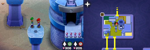 Location of the tenth beanhole in Peach's Castle.