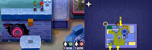 Location of the eleventh beanhole in Peach's Castle.
