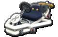 Thumbnail of a white Pipe Frame (with 8 icon), in Mario Kart 8.