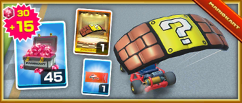 The? Block Pack from the Mario Bros. Tour in Mario Kart Tour
