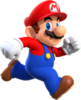Artwork of Mario in Super Mario Run
