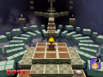 One of Mirror Mansion's red diamond sub-levels from Wario World.