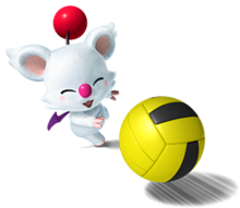A Moogle from Mario Hoops 3-on-3