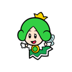 Green Sprixie Princess stamp from Super Mario 3D World + Bowser's Fury.