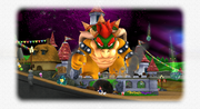 Mario battling Bowser.