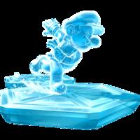 Artwork of Ice Mario from Super Mario Galaxy.