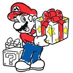 The icon for Seasonal colour in with Mario from Nintendo Kids Club