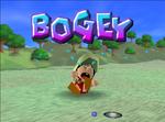 Baby Mario receiving a Bogey in Mario Golf