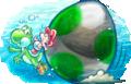 Baby Mario and Yoshi Artwork (alt 3) - Yoshi's New Island.png