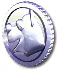 Artwork of a bear coin from Donkey Kong Country 3: Dixie Kong's Double Trouble!.