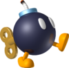 Artwork of a Bob-omb, from Mario Kart Wii.