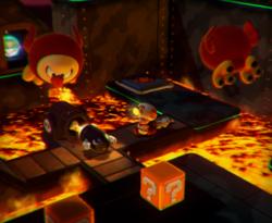 The illustration of Spinwheel Bullet Bill Base in Captain Toad: Treasure Tracker.