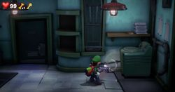 The Laundry Room in the Twisted Suites in Luigi's Mansion 3