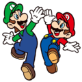 Mario and Luigi High Five.png