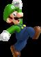 Artwork of Luigi jumping from New Super Mario Bros. Wii