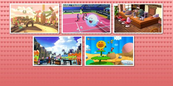 Banner for a Play Nintendo opinion poll on locations in the Nintendo universe where one could bring their date on Valentine's Day. Original filename: <tt>2x1_VDayDatePlaces_Content_v03.0290fa9874e6c2e6db1c3f61b1e85eb024429302.jpg</tt>