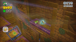 King Ka-thunk's Castle from World 5 in Super Mario 3D World.