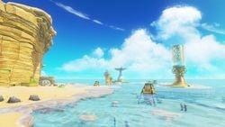 The Seaside Kingdom in Super Mario Odyssey.