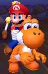 Orange Yoshi in Super Mario Sunshine.
