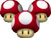Triple Mushrooms from Mario Kart 7.