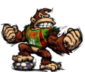 Donkey Kong from Super Mario Strikers