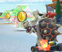 The icon of the Iggy Cup challenge from the New Year's Tour and the Baby Luigi Cup challenge from the 2020 Winter Tour in Mario Kart Tour