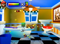 The version of Gnat Attack in a pre-release build of Mario Artist: Paint Studio.
