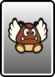 A Paragoomba card from Paper Mario: Color Splash